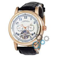 Часы мужские A.Lange & Sohne Glashutte Gold/White