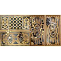 Нарды+шахматы из бамбука (60х30х4 см) (6030-C)