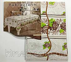 """Скатерть-клеёнка для кухни """"Волна"""" 110х140 (V11004) цветы"""