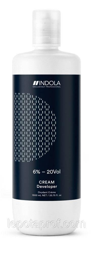 Крем-проявитель Indola Profession Cream Developer 6%, 1000 ml