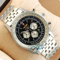 Часы мужские Breitling Chronometre Silver/Black