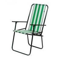 "Стул ""Дачный"" белый 20 мм 87х50х50см, алюминиевый каркас, тканевая сидушка, высокая спинка, стул туристический, раскладной стул, стул для дачи, стул"