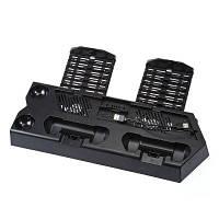 PS4-100 Зарядная подставка для хранения с консольным охладителем Чёрный