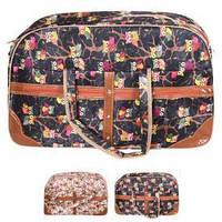 """Сумка дорожная """"Owls"""" 54х35см, полиэстер, 2 внешних кармана, ремень через плечо, сумка для поездок, сумка для путешествий, большая сумка"""