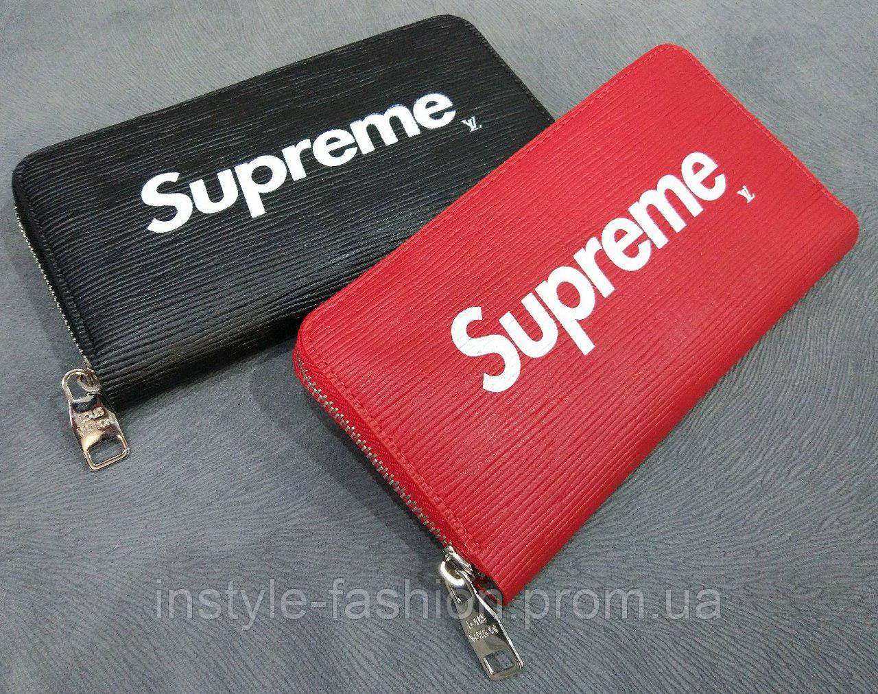 Кошелек женский Louis Vuitton Supreme эко-кожа черный  купить ... 516a3eeab66