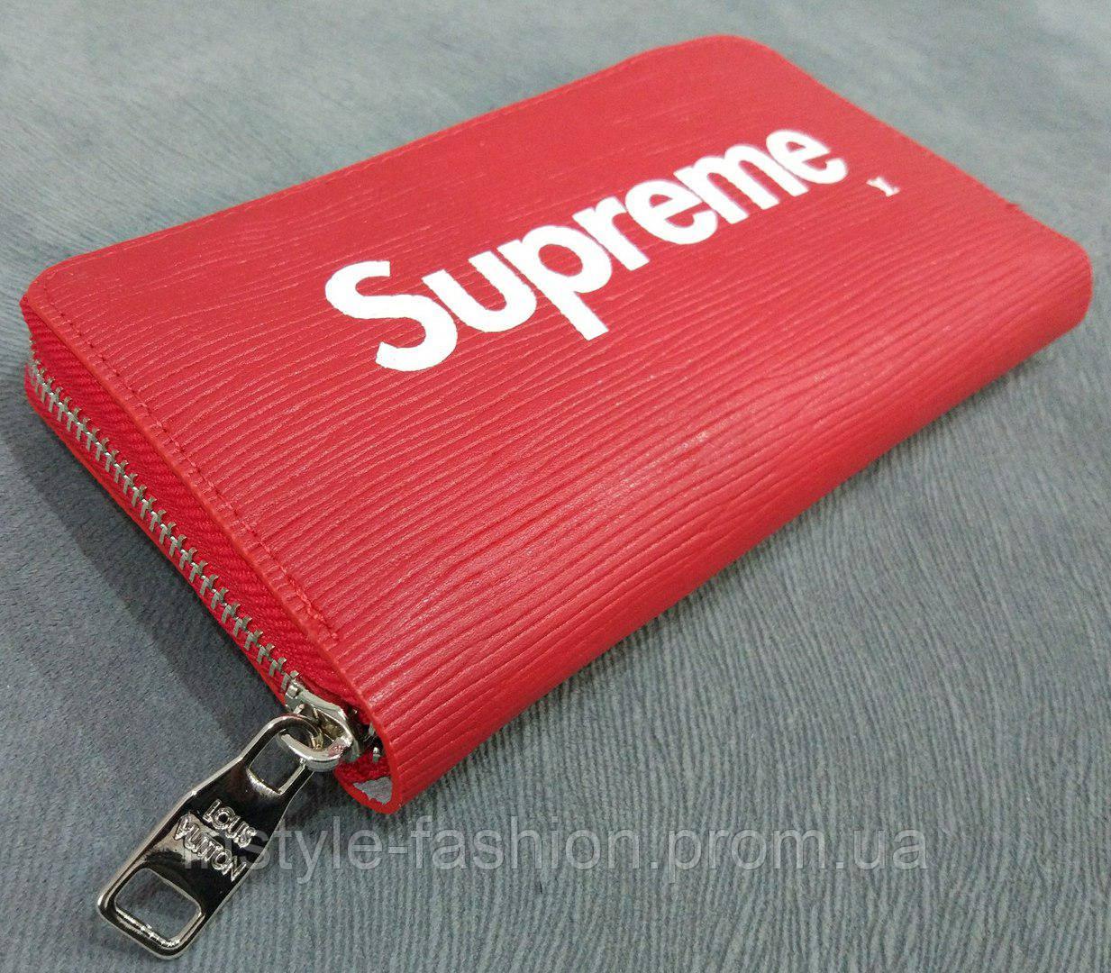 Кошелек женский Louis Vuitton Supreme эко-кожа красный - Сумки брендовые,  кошельки, очки bd39cbc5e7b