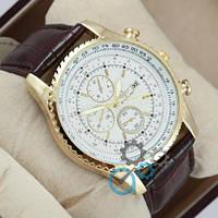 Наручные мужские часы Breitling 7810 Brown-Gold-White