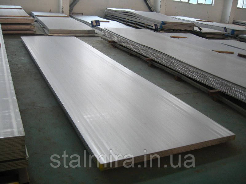 Лист нержавеющий, Размер: 1,00 x 1250 x 2500 AISI 441-2R+PVC Вес листа, кг 25