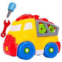 DIY игрушка в форме грузового автомобиля для сборки и разборки