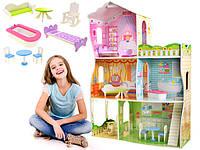 Дерев'яний ляльковий будиночок для Барбі