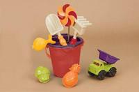 Набор для игры с песком и водой  - ВЕДЕРЦЕ МАНГО (9 предметов) от Battat - под заказ