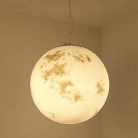 Lanshi подвесная лампа новая и творческая подвесная лампа с формой полной луны - белый и желтый