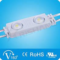 Світлодіодний модуль Rishang з лінзою (70Lm) White 2-LED SMD 2835, DC 12V, IP68