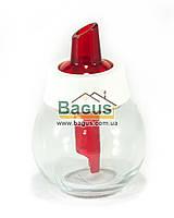Дозатор для сахара стеклянный 180мл КРАСНЫЙ Herevin 131661-1