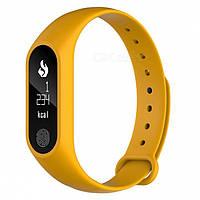 M2 Mi Band 2 Фитнес браслет Smart Watch Bluetooth 4.0, шагомер, фитнес трекер, пульс, монитор сна Желтый