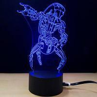 M.Sparkling 3D Творческие красочные USB питание ночной светильник 48813