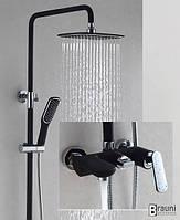 Душевая система со смесителем для ванны 80013/01BC черный хром