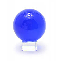 Шар хрустальный на подставке синий (6 см)