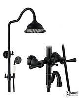 Душевая стойка со смесителем для ванны Oxford 0809 черная