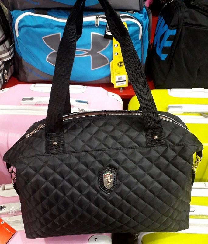 fbbb6a042b97 Сумка Ferrari 114678 черная спортивная женская стеганный текстиль копия -  Shoppingood в Харькове