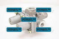 Клапан защитный тройной Камаз 5320 (кран тормозной, регулятор давления) КамАЗ-4310 (100-3515210)