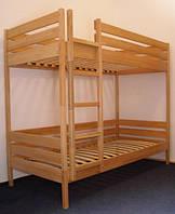 Кровать двухъярусная ПИНОККИО (80х190 см) из дерева бук для детей и взрослых
