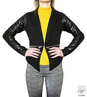 Женский пиджак Juliet р. М 46 жакет короткий женский на одной пуговице черный весенний демисезонный