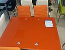 Стол стеклянный раскладной обеденный ТВ14 красный 96\156*70*75 , фото 7