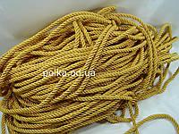 Витой декоративный шнур (канат) 10мм,цвет желто-золотой (1уп-92м)