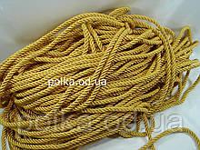 Витой декоративный шнур (канат) 10мм,цвет желто-золотой (1уп=92м или 46м)