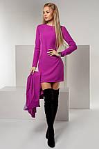 """Элегантный женский костюм-двойка """"Parina"""" с кейп-пиджаком (4 цвета), фото 3"""