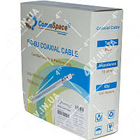 Коаксиальный кабель CommSpace F660BVF наружный ГЕЛЬ (100м.) 75 Ом черный