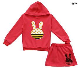 """Теплый костюм """"Кролик"""" для девочки. 110, 120, 130 см"""