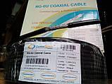 Коаксиальный кабель CommSpace F660BVF наружный ГЕЛЬ (100м.) 75 Ом черный, фото 2