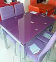 Стол стеклянный раскладной обеденный ТВ14 красный 96\156*70*75 , фото 4