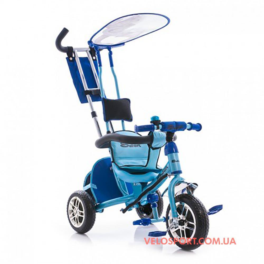 Детский трехколесный велосипед Azimut Safari EVA голубой