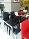 Стол стеклянный раскладной обеденный ТВ17 салатовый 110\170*75*75, фото 4