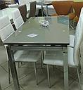 Стол стеклянный раскладной обеденный ТВ17 салатовый 110\170*75*75, фото 8
