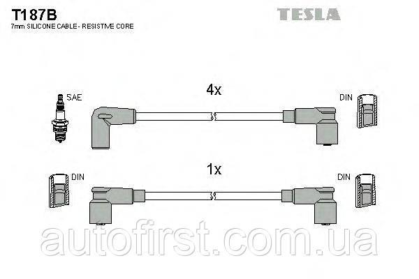 Комплект высоковольтных проводов Tesla T187B ARO