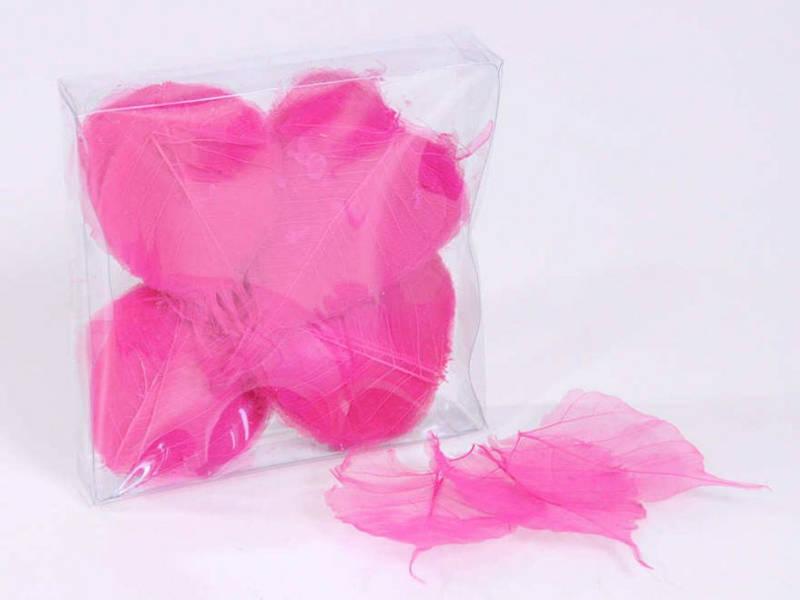 Скелетированные листья розовые 200 шт.