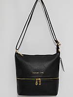 Стильная прямоугольная сумка Michael Kors матовый черный, фото 1