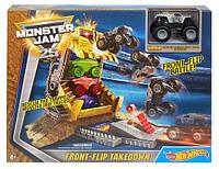 Трек Hot Wheels Monster Jam Front Flip Takedown Playset ОРИГИНАЛ DXB05