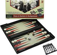 Игровой набор магнитный 3 в 1 (Шахматы, шашки, нарды)