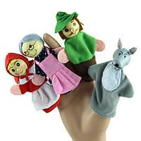 """Детский пальчиковый кукольный театр """"Красная Шапочка"""" 4 персонажа, фото 1"""