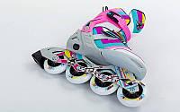 Роликовые коньки раздвижные ZEL (34-37, 38-41) ABSTRACT. Распродажа!
