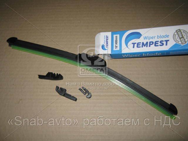 Щетка стеклоочистителя бескаркасная 16/400мм. (с адаптерами)  (арт. TPS-16FL)