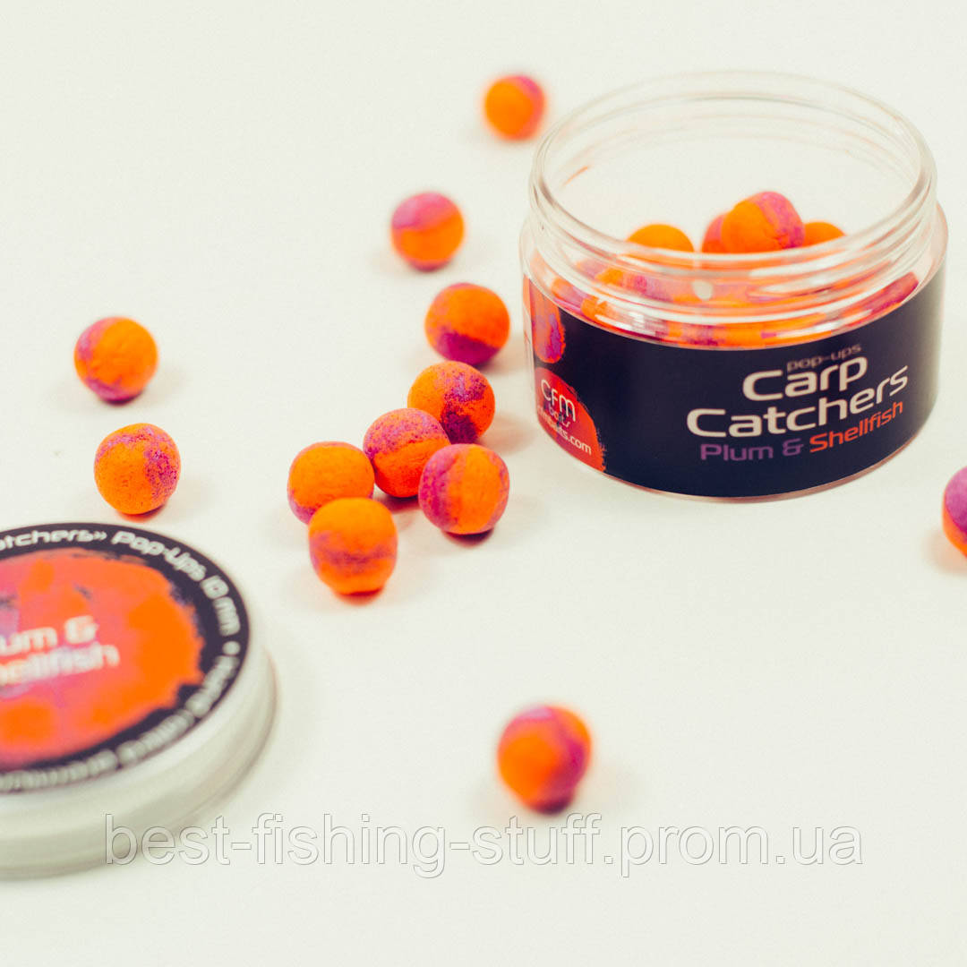Бойлы pop-up Carp Catchers «Plum&Shellfish» 10mm