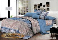 Двуспальный комплект постельного белья евро 200*220 ранфорс (7012) TM KRISPOL Украина