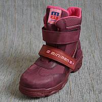 Утепленные ботинки для девочек зима Minimen размер 32 34 35 36