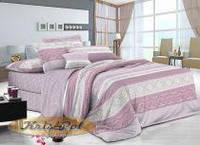 Полуторный комплект постельного белья 150*220 сатин (8140) TM KRISPOL Україна